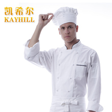 Cook suit long-sleeve autumn and winter double breasted  French cook suit chef wear  working clothes