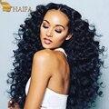 Перуанский Девы Волос Deep Вьющиеся 100 Человеческих Волос Weave Связки Перуанский Глубокая Волна Девы Волос оптом дешево