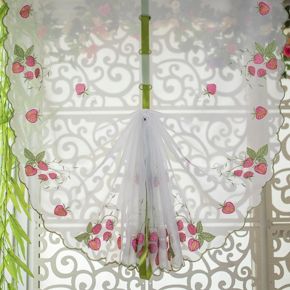Erdbeere stickerei muster fenster vorhang, vorhänge für Schlafzimmer ...