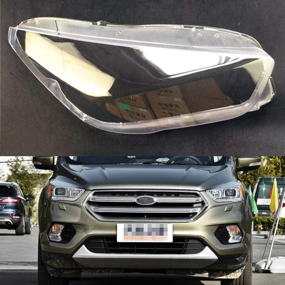 Pour Ford Kuga 2017 2018 voiture phare phare clair lentille Auto coque couverturePour Ford Kuga 2017 2018 voiture phare phare clair lentille Auto coque couverture