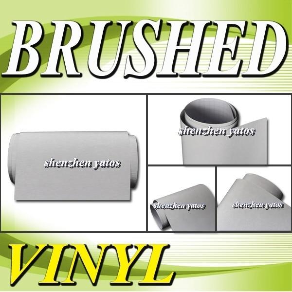 Silver  Brushed Aluminium car vinyl film  With 3M  bubbles 1.52x30M