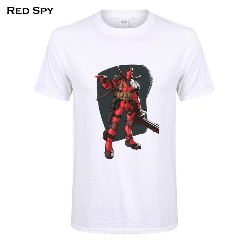 RED SPY Tops Tees Marvel T-shirt cartoon Spiderman, iron man, deadpool, clown girl, hulk, batman, flash print t shirt men