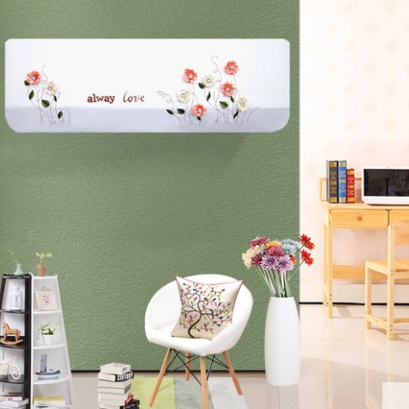 Indoor Air Conditioner Cover 1 5p Wall Mounted Decorative Hood Embroidered Past 80x20 86x20 92x18cm Flowers In Covers From Home