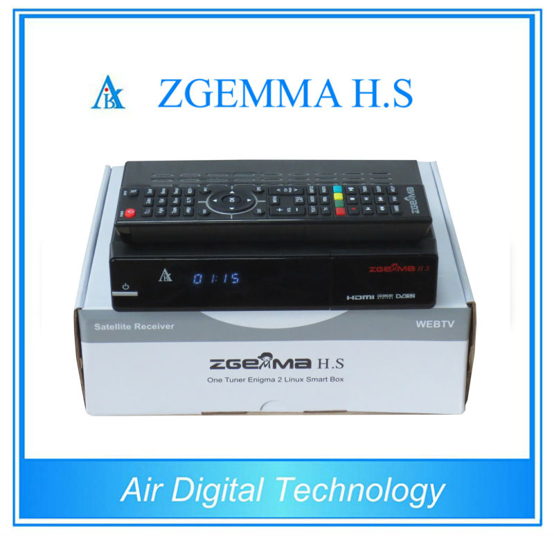 Best Offer for 20pcs/lot  Original ZGEMMA H .S with Dual Core Enigma 2 Linux MPEG4 DVB-S2 HD IPTV Satellite Receiver 10pcs zgemma star i55 support satip iptv box bcm7362 dual core mainchipset 2000 dmips cpu linux enigma 2 hdmi connection