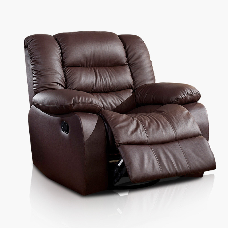 Attirant Antique European Creative Cow Real Genuine Leather Chair Single Living Room  Sofa Chairs Swivel Chair Functional Chair Recliner In Living Room Chairs  From ...