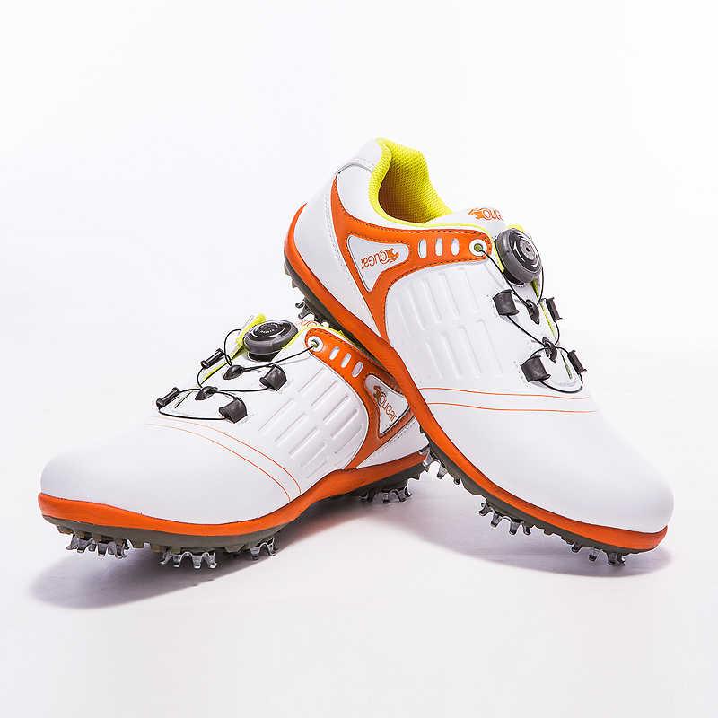 גברים גולף ריפוד נושם סניקרס קל משקל עמיד בפני החלקה ספורט נעלי אורות חיצוני הליכה מאמן
