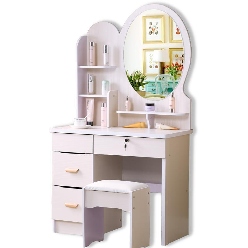 European dresser bedroom small apartment modern makeup simple and economical multi-purpose mini dressing table cut the nordic modern minimalist dresser bedroom flip multi functional dressing small apartment mini make up table
