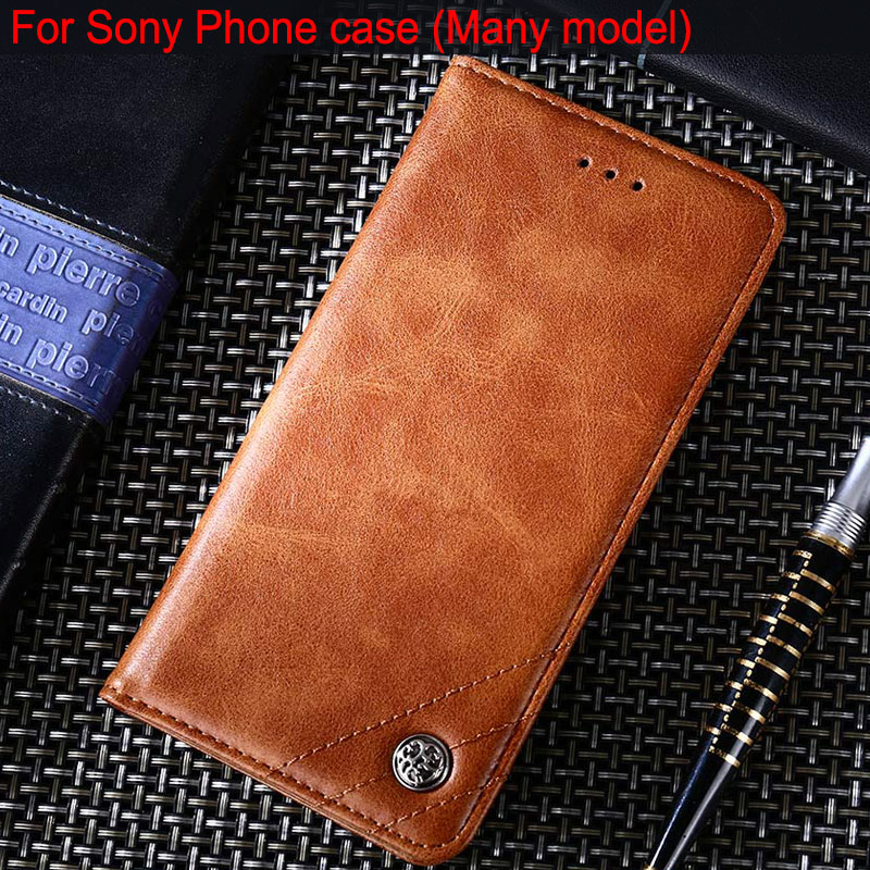 <font><b>Case</b></font> for <font><b>Sony</b></font> <font><b>xperia</b></font> L1 L2 <font><b>L3</b></font> Z4 Z5 Z6 XA1 XA2 XA3 XZ XZ1 XZ2 XZ3 XZ4 XZ5 premium compact Leather <font><b>Case</b></font> Flip cover Without magnet image