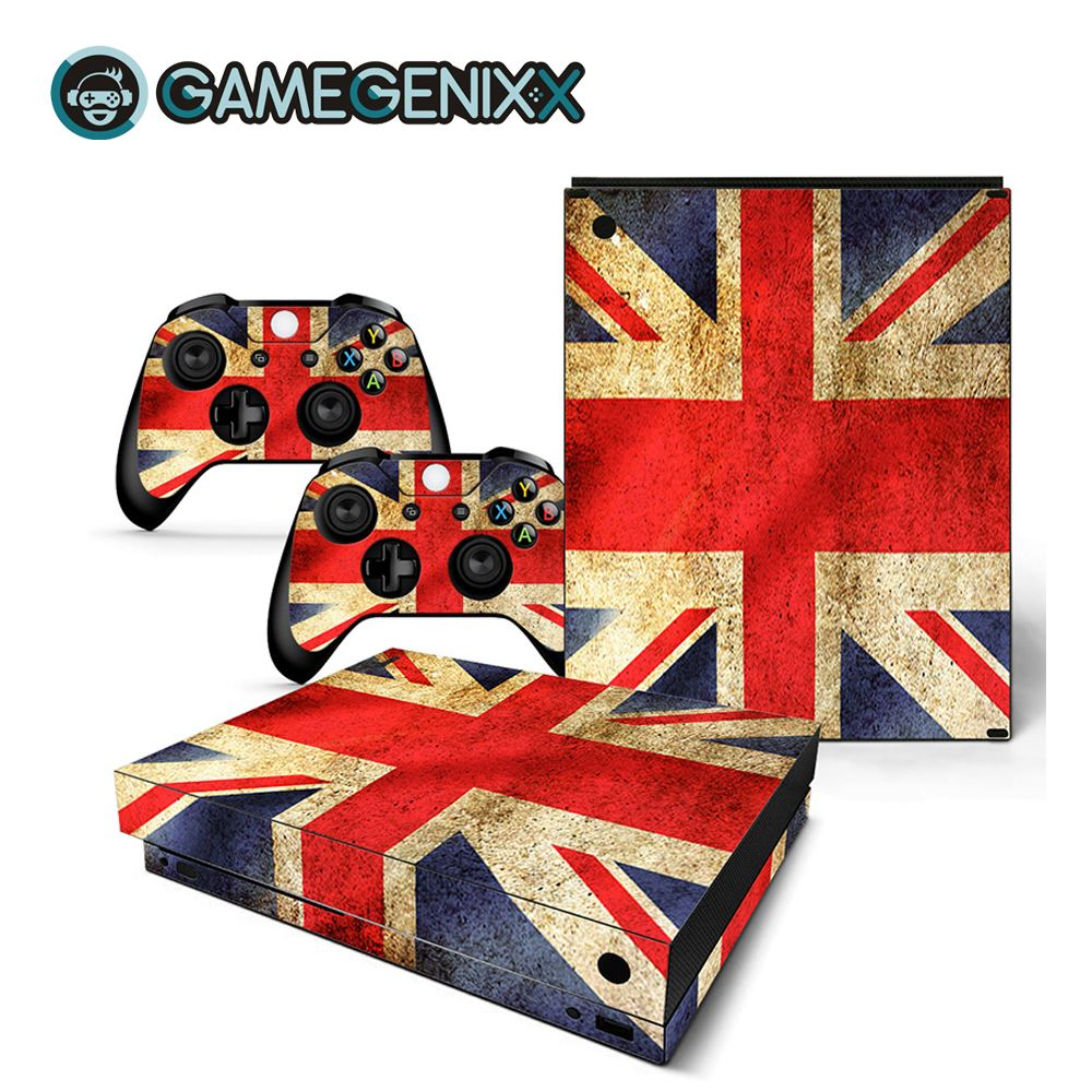 GAMEGENIXX Skin Sticker Vinyl Decal for Xbox One X Console and 2 Controllers - British Flag(China)