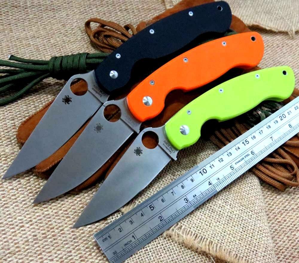 High quality C36 Folding font b Knife b font D2steel G10 Handle Camping font b Hunting