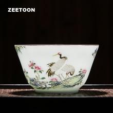 75 мл Цзиндэчжэнь бутик керамическая семейная Роза фарфор цветы и птицы чайная чашка винтажный мастер чашка чайный набор кунг-фу чашка чая, кружка