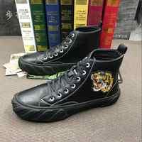 ERRFC Fashion Forward Mens Casual Comfort Shoes High Top Black Flat Platform Man Leisure Shoes Designer Short Ankle Boots 38-43