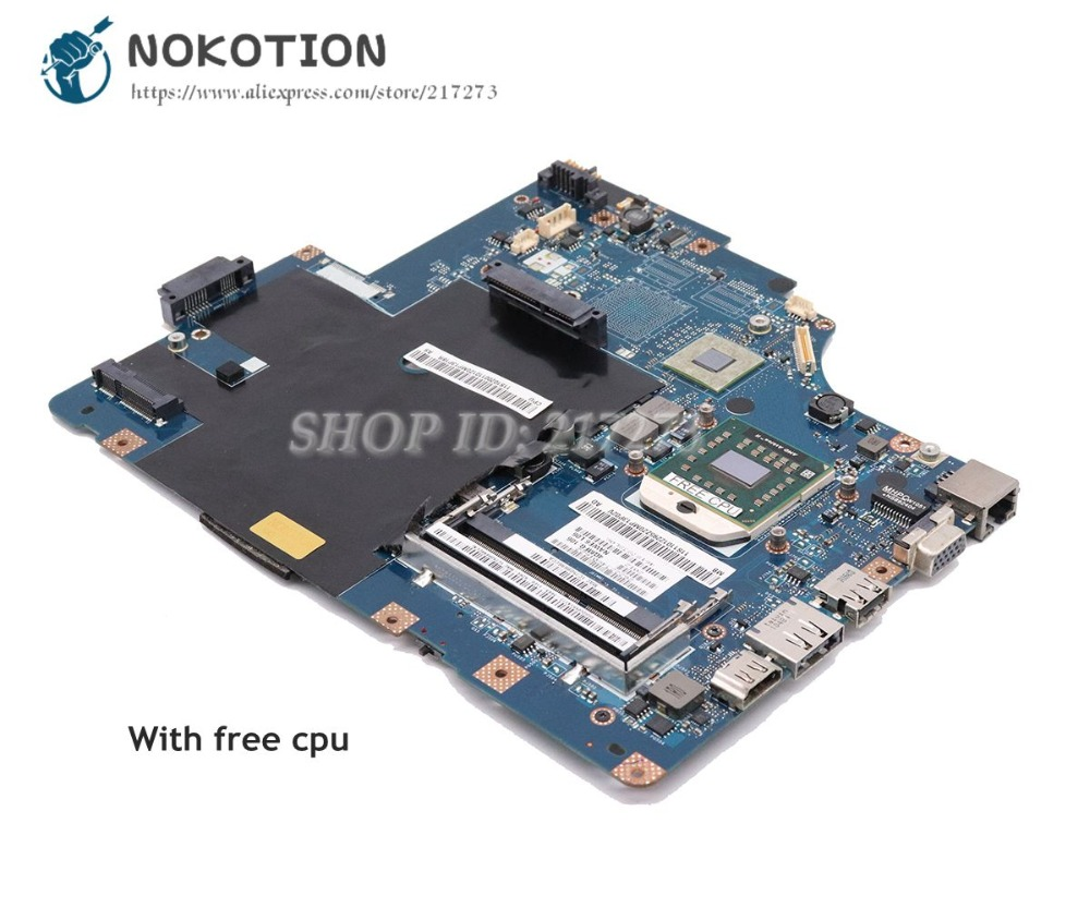 NOKOTION For Lenovo G565 Z565 Laptop Motherboard LA-5754P Main Board 11S69038329 Socket S1 DDR3 with Free CPU la 5754p main board for lenovo g565 z565 laptop motherboard socket s1 free cpu ati hd5340 video card ddr3