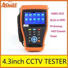 """Hot test 4.3 """" IP camera tester IPC 4300 hd sdi cctv tester with Onvif and Support PTZ Control built-in wifi"""