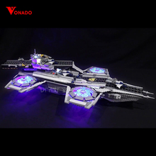 Купить с кэшбэком LED light up kit for lego 76042 Super Heroes The Shield Helicarrier Compatible 07043 Building Blocks Bricks (only include light)