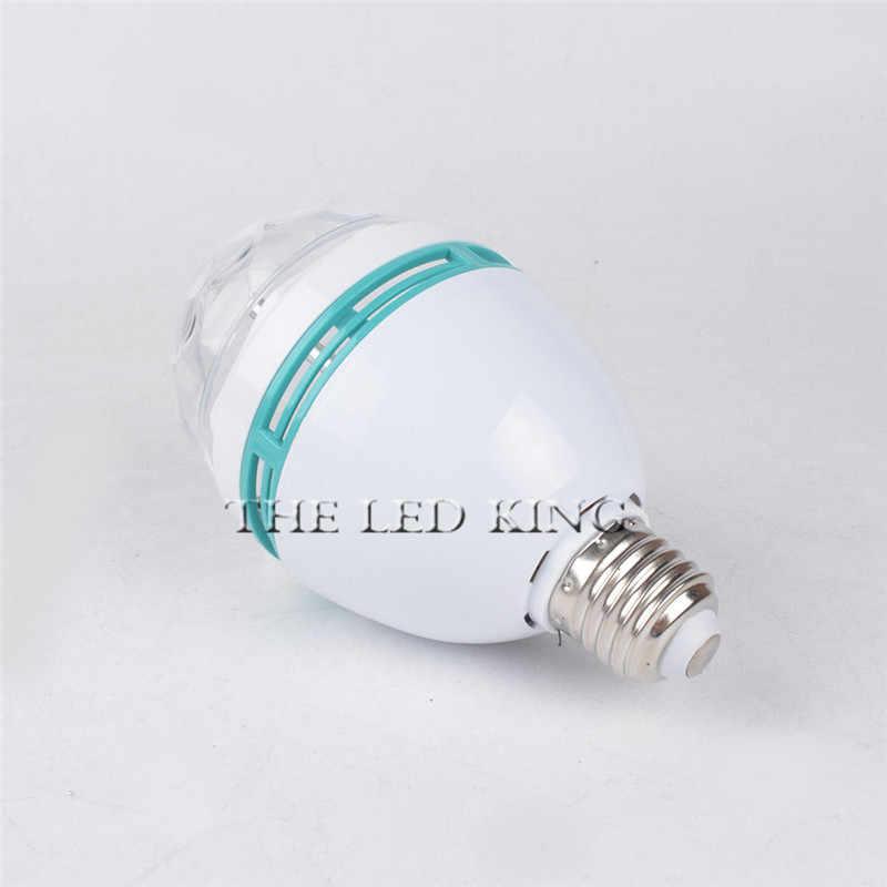 1X10X6 W E27 RGB מלא צבע LED הנורה אוטומטי מסתובב שלב אפקט DJ אור דיסקו מיני לייזר שלב המפלגה בר אור קישוט