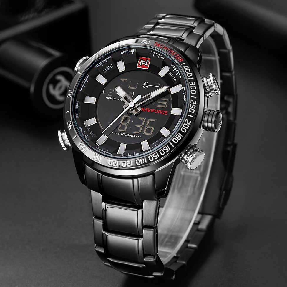 NAVIFORCE Quarz Armbanduhr Herren Uhren Top Brand Luxus Sport Militär Uhr Männer Uhr Edelstahl Wasserdicht relogio masculino