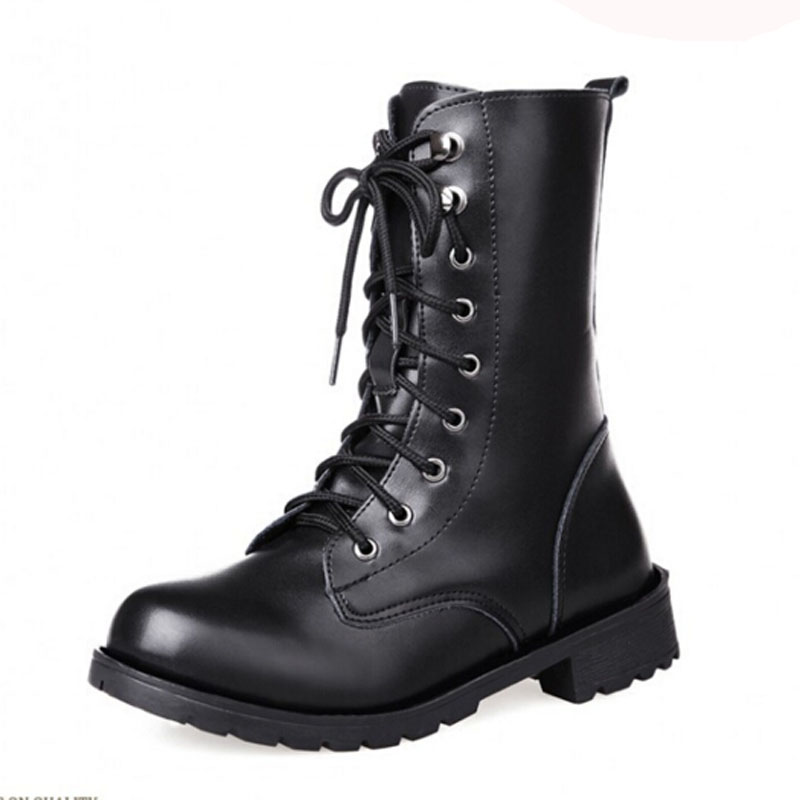 Online Get Cheap Black Combat Boots Women Fashion -Aliexpress.com ...