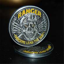 Free Shipping 50pcs/lou,US Rangers Lead The Way - Army Ranger Challenge Coin