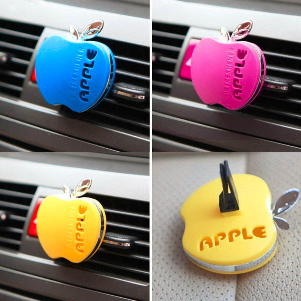 Auto Car Air Freshener Outlet Perfume Scent Interior Apple Shape Aromatherapy Fashion Car Air Freshener Car Styling