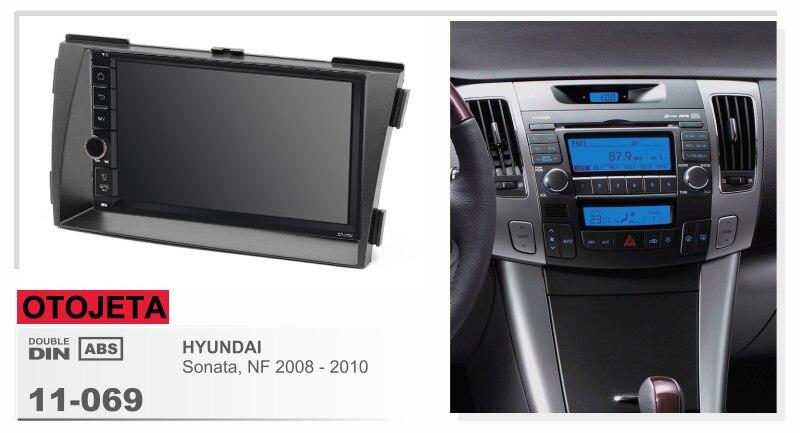 Navirider Android 8.1 voiture multimédia lecteur magnétophone (cadre + radio série) fit pour hyundai sonata NF 2008-2010 GPS