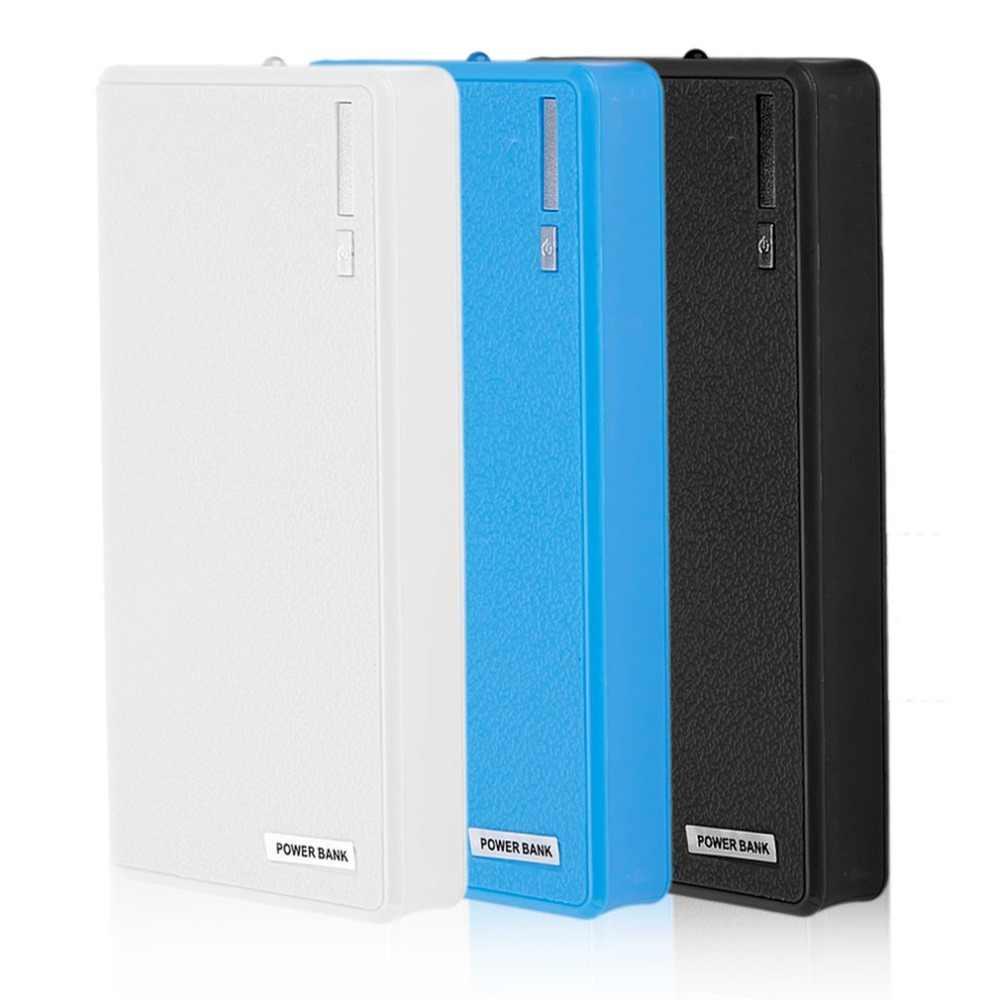Double-usb chargeur portatif batterie 6x18650 chargeur de batterie bricolage Powerbank Box Kit (pas de batterie)
