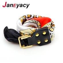 Женский браслет janeyacy модный в стиле ретро с пряжкой и шарфом