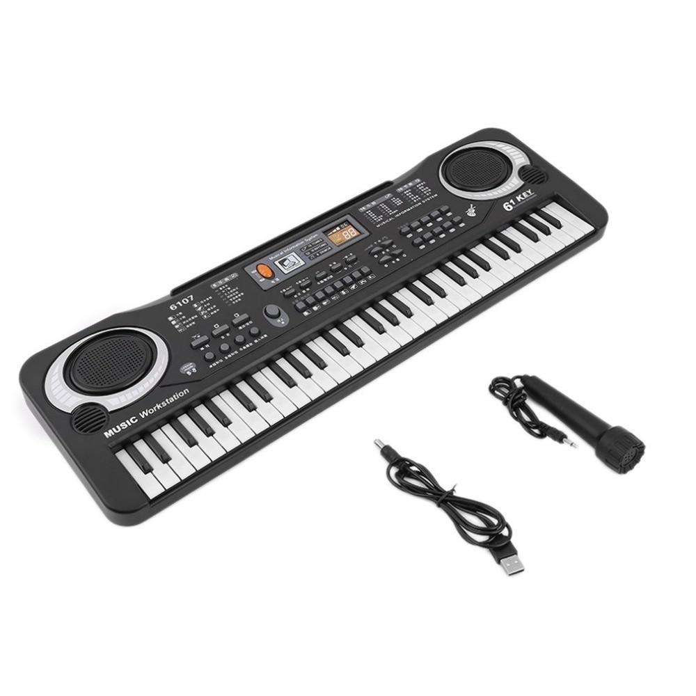 Multifunktionale 61 Tasten Digitale Elektronische Tastatur Klavier Musical Spielzeug Geschenke Mic Records für Kinder Kinder Anfänger Bildung