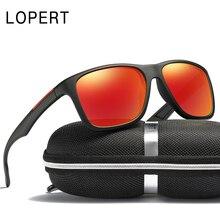 LOPERT Classic Polarized Sunglasses Men Square Glasses Brand Classic Women Coating Points Black Frame Sun Glasses UV400