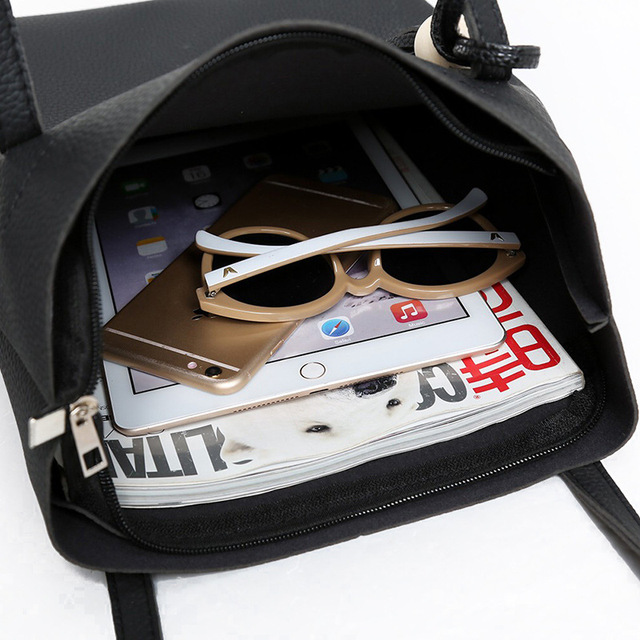 Women Bag Famous Brand 2017 New Fashion Women Messenger Bags Handbag Set PU Leather Composite Bag Bolsa Feminina Top-Handle Bags