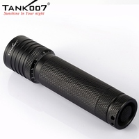 Tank007 TK737 Cree Q5 Waterproof Outdoor 5 Modes 300LM LED Flashlight Torch Light Lamp by 18650 Battery