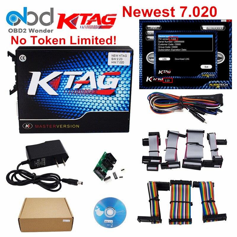 Prix pour Top Vente Ktag 7.020 ECU Chip Tuning K TAG V7.020 V2.23 maître Version Pour Voiture Camion KTAG ECU Outil de Programmation ECM Comme cadeau