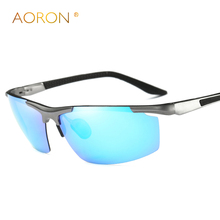 AORON Men's Aluminum Polarized Mens Sunglasses Mirror Sun Glasses Square Goggle Eyewear Accessories For Men Female Sunglasses