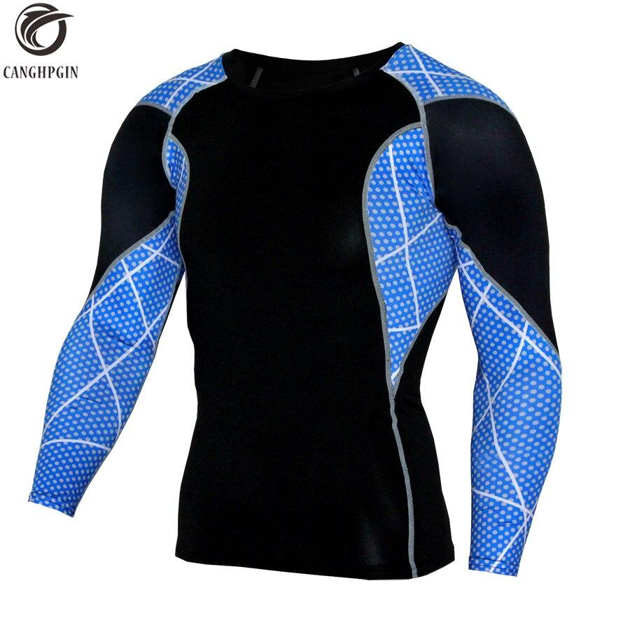 3d Digital Printing Mens Compression Long Sleeves Shirts Quick Dry