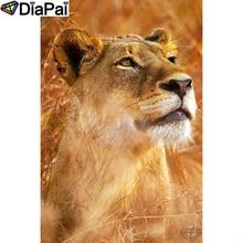 DIAPAI 5D DIY Diamond Painting 100% Full Square/Round Drill Animal lion Diamond Embroidery Cross Stitch 3D Decor A22169 diapai diamond painting 5d diy 100% full square round drill animal lion diamond embroidery cross stitch 3d decor a24702