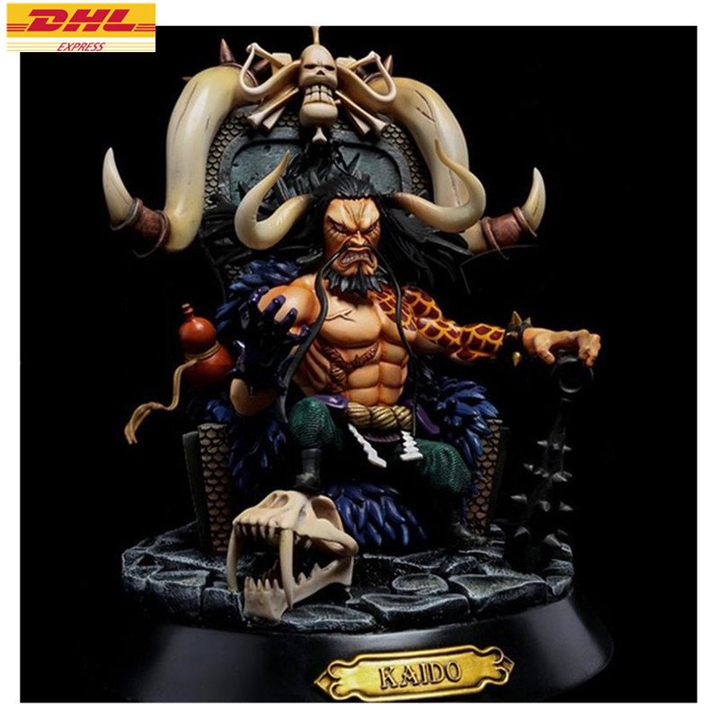 Statue ONE PIECE Bust The Sea of Beasts Sitting Kaido Monkey D. Luffy Opponent GK 24CM Action Figure Collectible Model Toy D693 11 statueone piece seven warlords of the sea sitting jinbe bust gk action figure collectible model toy box d621