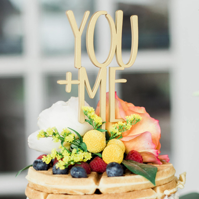 Wood Cake Toppers you and me rustic wedding cake topper romantic
