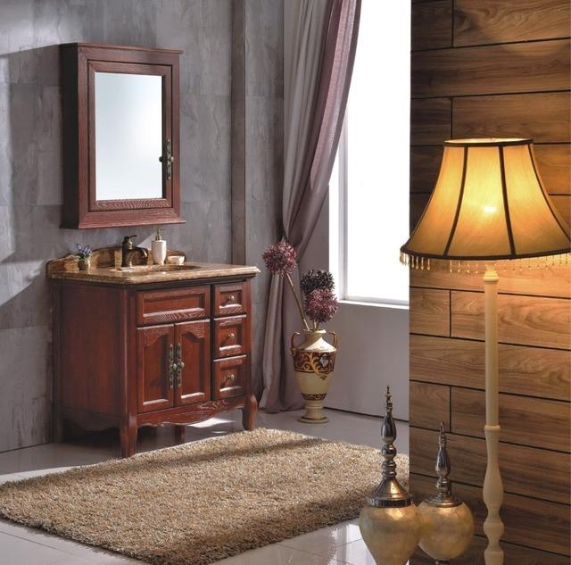 Waschbeckenunterschrank mit marmorplatte und spiegel 0281 B6003 in ...