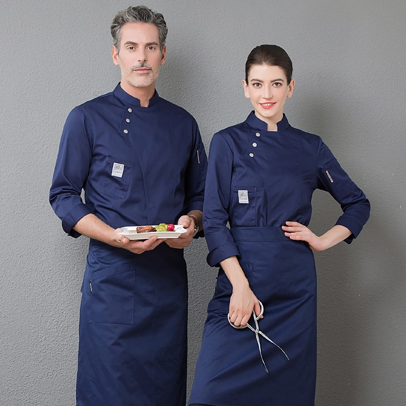 Chef Clothes Long-sleeved Autumn And Winter Clothes Men And Women Hotel Canteen Cake Bakers Kitchen Kitchen Work Clothes