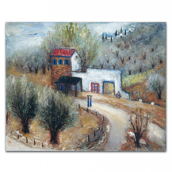 DOMGMEI OIL PAINTING hand painted oil painting high quality wall landscape painting pictures for living room DM-1510103