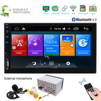 Android 6.0 7 Inch HD Digital Touch Screen Car PC Bluetooth Stereo Double 2 Din Multimedia Player GPS Navigation Support Wifi
