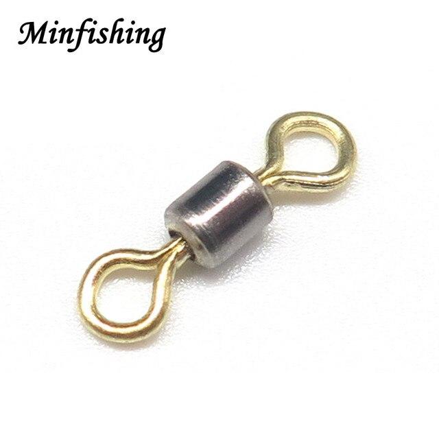 8290cbab73d Minfishing 100 unids lote de color dorado giratorio de pesca giratorio de  latón conector de