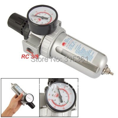 Free Shipping 5PCS/Lot 3/8'' SFR300 Pneumatic Air Souce Treatment Filter Regulator w Pressure Gauge цена
