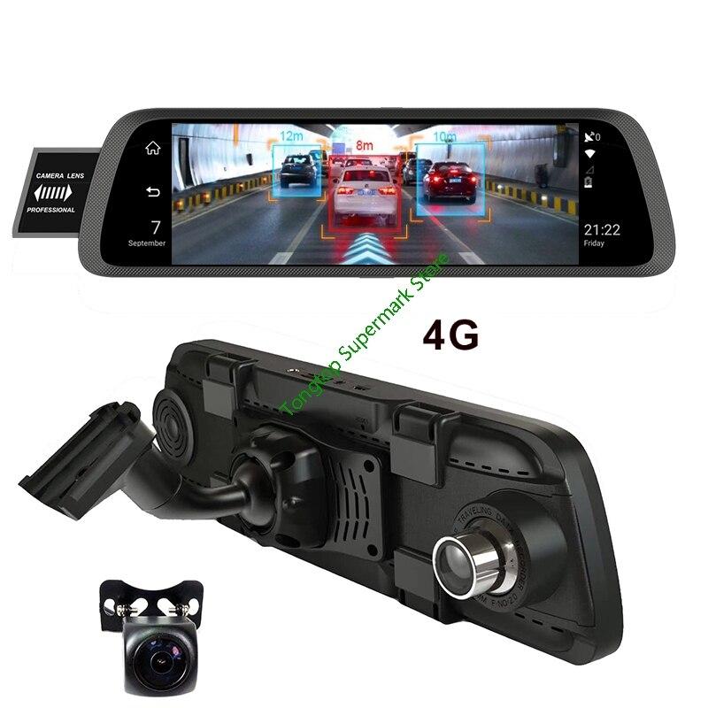 10 Polegada Duplo Uso em Um Espelho DVR 4G ADAS Inteligente Android Câmera Com Suporte Especial Do Carro espelho retrovisor wiFi GPS Camera