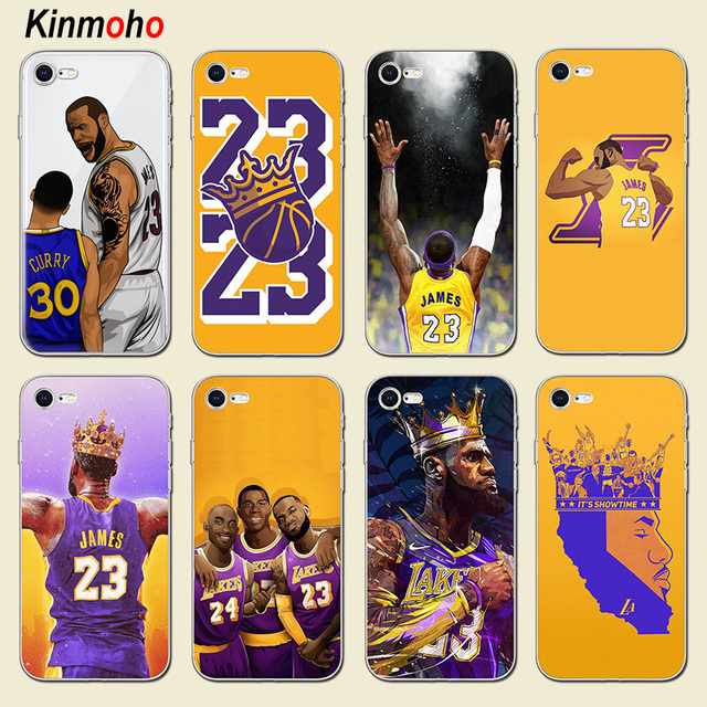 san francisco be968 5c137 US $1.92 23% OFF Basketball Player LeBron James Soft Phone Cases Cover For  iPhone 7 6 8 6S Plus 6Plus 7Plus 5s SE 5 X XR XS MAX Coque Funda Bags -in  ...