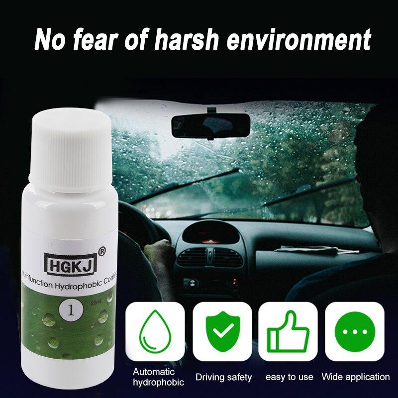 HGKJ-1 Multi-function Rainproof Nano-hydrophobic Coating Car Paint Hydrophobic Coating Glass Cleaning Car Window Cleaner TSLM1