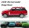 Pequeño aleación del coche (TY8886) Die Cast Car model, 13 CM coche Range Rover, de metal del coche con la luz y la música Del Envío Libre