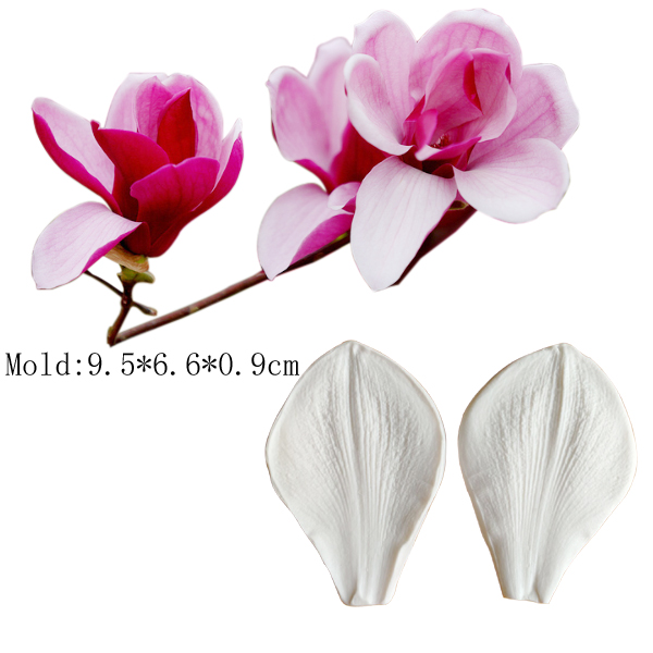 Double Veiner Silicone Mold Cutter Sugarcraft Fondant Mastic Clay Flower Making Fox Glover
