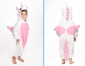 Kids Cartoon Pink Unicorn Onesie boys girls Children Flannel Pyjamas  Cosplay Costume Pajamas Sleepwear jumpsuit for Halloween-in Men s Costumes  from Novelty ... 0edccee4af1e
