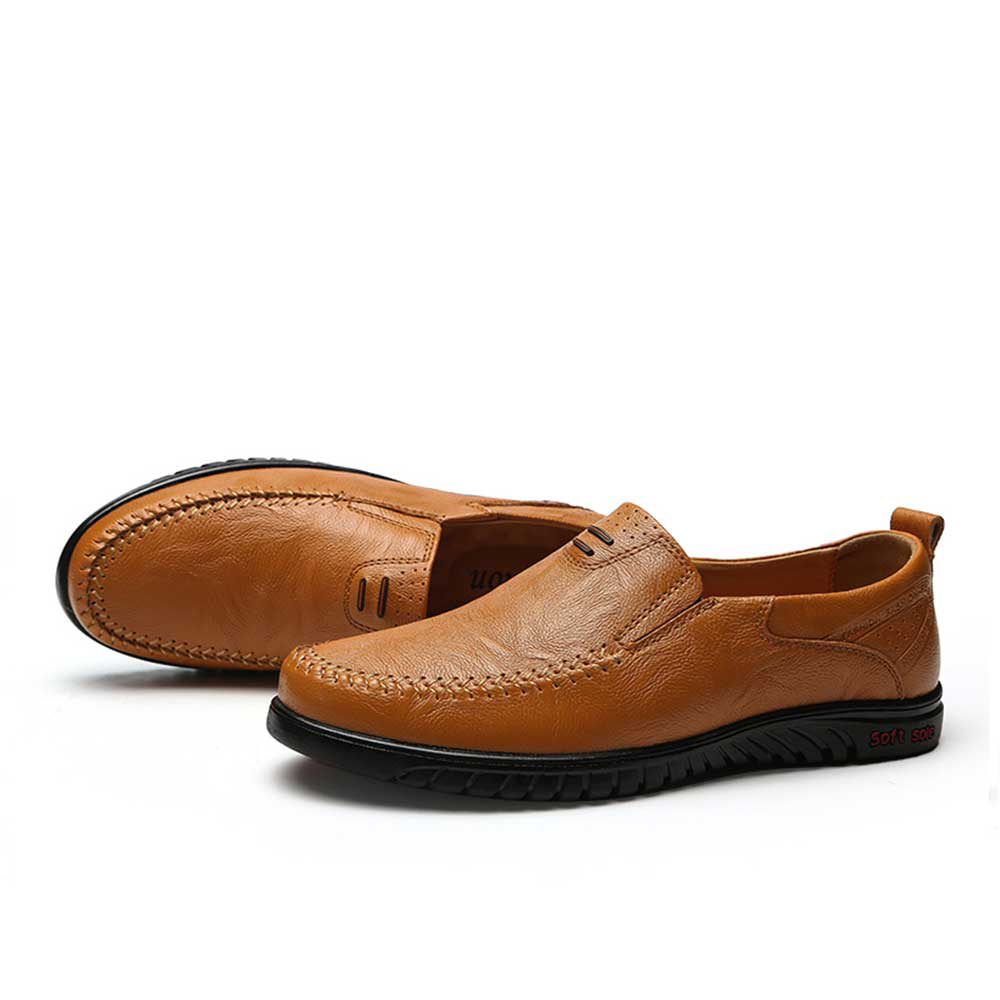 Big Size New Arrival Split Leather Men Casual Shoes Fashion Top Quality Driving Moccasins Slip On Loafers Men Flat Shoes 36~46 surgut brand new colors cow split leather men flat shoes brand moccasins men loafers driving shoes fashion casual shoes hot sell